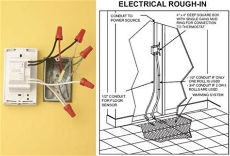 Electric Heat Wiring by Wiring An Electric Floor Heating System Electrical