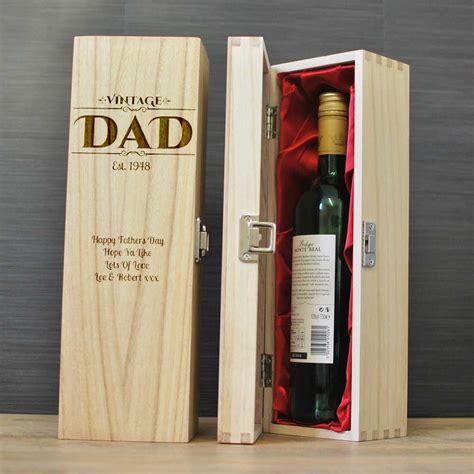 vintage dad personalised wine box