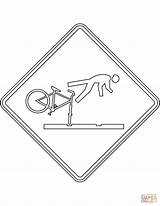 Coloring Sign Tracks Care Take Pages Zealand Cyclists Rail Warning Signs Supercoloring Road sketch template