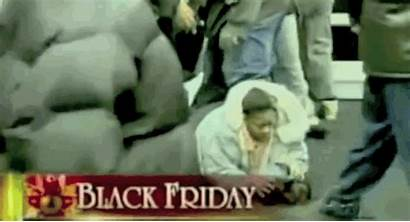 Friday Shopping Deals Disaster Rush Lady Fell