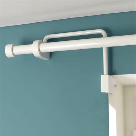 voilage porte fenetre cuisine support sans perçage tringle à rideau ib 25 mm blanc