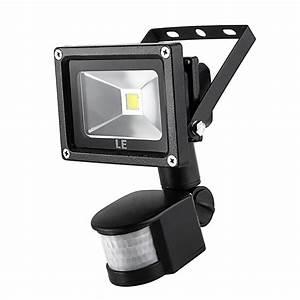 W pir led flood light lm k motion sensor