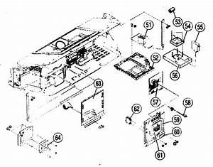 Cabinet Parts 2 Diagram  U0026 Parts List For Model Kdf50e2000