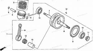 Honda Scooter 1996 Oem Parts Diagram For Crankshaft Piston