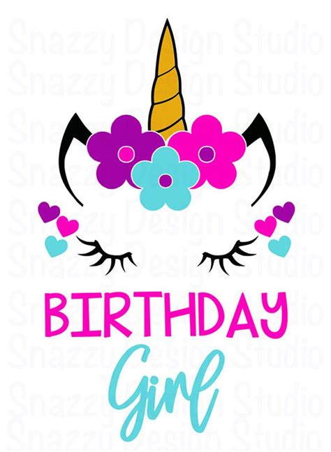 I've also included the pilgrim unicorn face free svg file assembled, perfect for print & cut stickers, or cut by color projects on your silhouette cameo / portrait, cricut explore. Unicorn svg Birthday Girl Unicorn svg Unicorn Birthday   Etsy