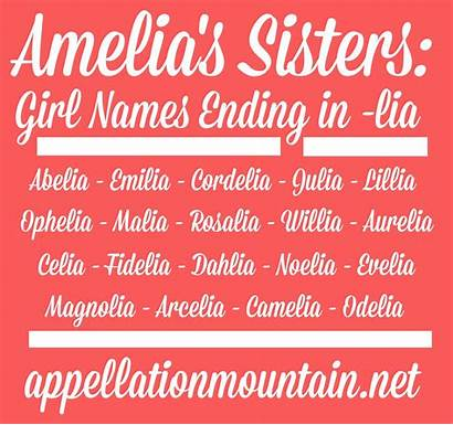 Names Ending Lia Amelia Sisters Popular Ia