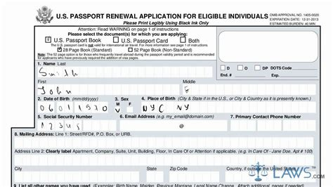 learn how to fill the form ds 82 u s passport renewal application for eligible individuals youtube