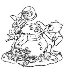 Disney Winnie the Pooh Christmas Coloring Pages