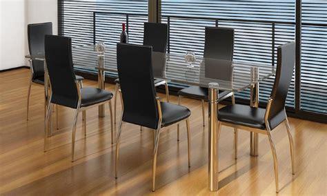 lot de 6 chaises salle a manger chaises salle à manger noires similicuir lot de 4