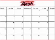 Março 2018 Calendário Calendário Printable Templates