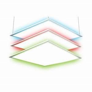 Panneau Led Castorama : panneau led blanc 60 x 60 cm rvb 24w castorama ~ Teatrodelosmanantiales.com Idées de Décoration
