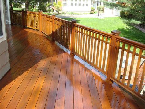 mahogany deck natural seal  deck