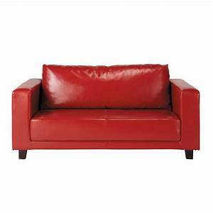 Canape 2 places rouge nikeo maisons du monde for Canape 2 places rouge