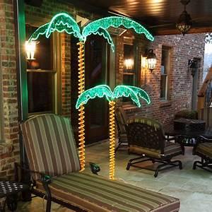 Wintergreen, Lighting, Holographic, Lighted, Palm, Tree, Indoor, Outdoor, Led, Palm, Tree, Patio, D, U00e9cor, Uv