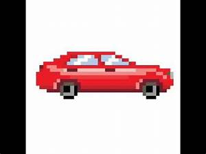 Pixel Art Voiture De Sport : la voiture en pixel art youtube ~ Maxctalentgroup.com Avis de Voitures