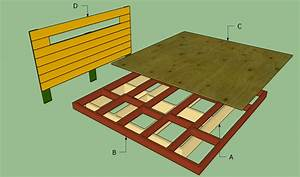 Platform bed frame plans HowToSpecialist - How to Build