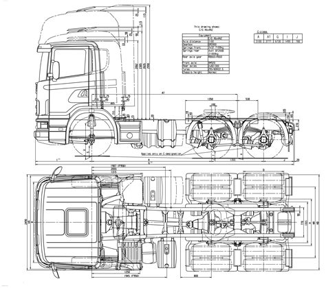 scania r series blueprint free blueprint for 3d modeling