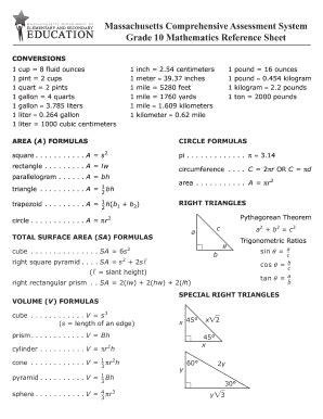 fillable mcas grade 10 math reference sheet 2018
