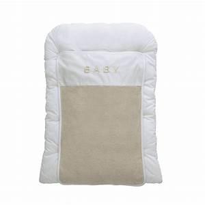 Matelas Change Bébé : matelas langer b b en coton beige blanc 52 x 70 cm ~ Teatrodelosmanantiales.com Idées de Décoration