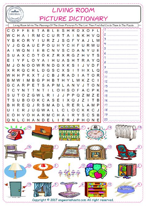 classroom object esl printable vocabulary worksheets