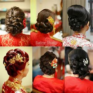 Chinese wedding hairstyles satinestudio.com bridal updo ...