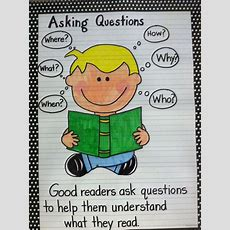 Asking Questions Anchor Chart  Things Made By Me  Pinterest  Anchor Charts, Chart And Literacy