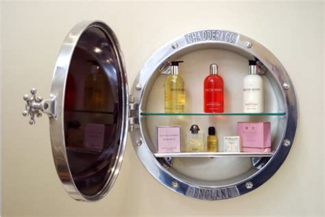 Chadder And Co Porthole Mirror Cabinet  Chadder & Co