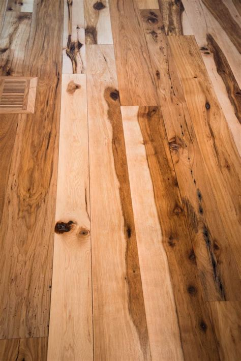 antique reclaimed hickory hardwood flooring ward