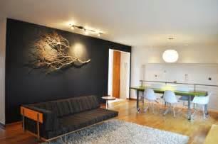 lighted birch tree 20 living room wall designs decor ideas design trends