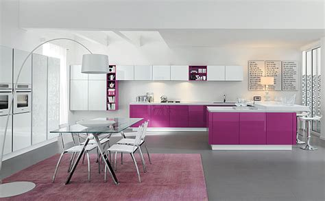 bloombety modern kitchen color schemes with pink mat purple kitchen designs pictures and inspiration
