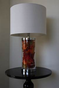 Tropical fillable clear glass table lamp base glass lamp for Fillable glass floor lamp