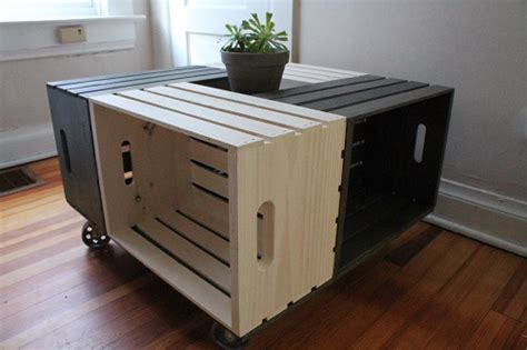 See the detailed pics here. 20 DIY Wooden Crate Coffee Tables | Guide Patterns