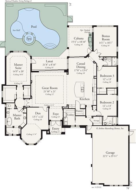 outdoor living floor plans this custom 3 bed 3 bath home features an open floor plan