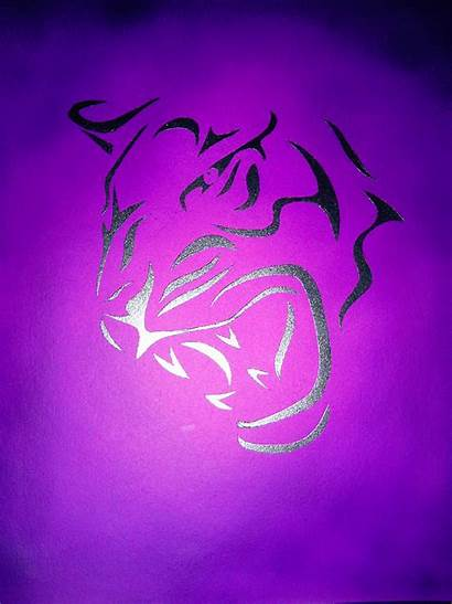 Purple Tiger Neon Hues Amazing Cool Jager