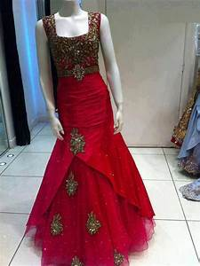 red silk gown indo western gown indian wedding reception With indian wedding reception dress