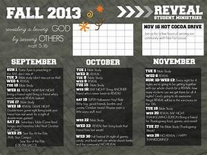 youth group calendar template - reveal youth group fall calendar possibly send out to the