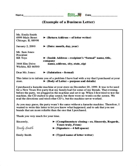 example of business letter 7 sample professional business letters sample templates 21567 | Professional Business Letter Example