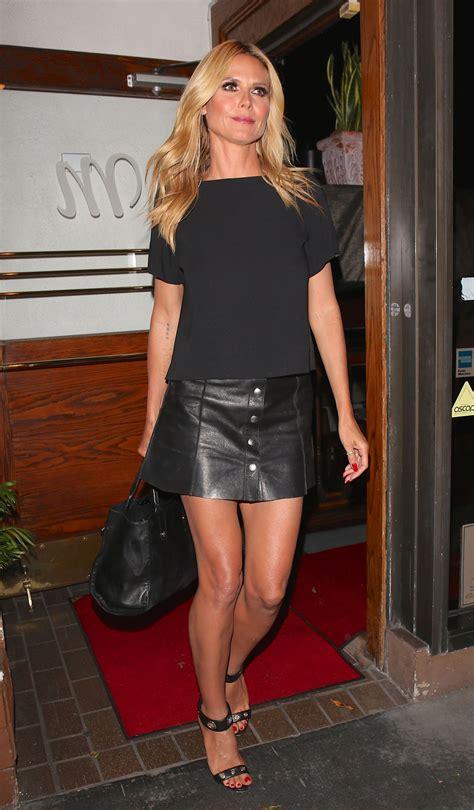 Heidi Klum Showed Off Her Legs At Madeo Italian