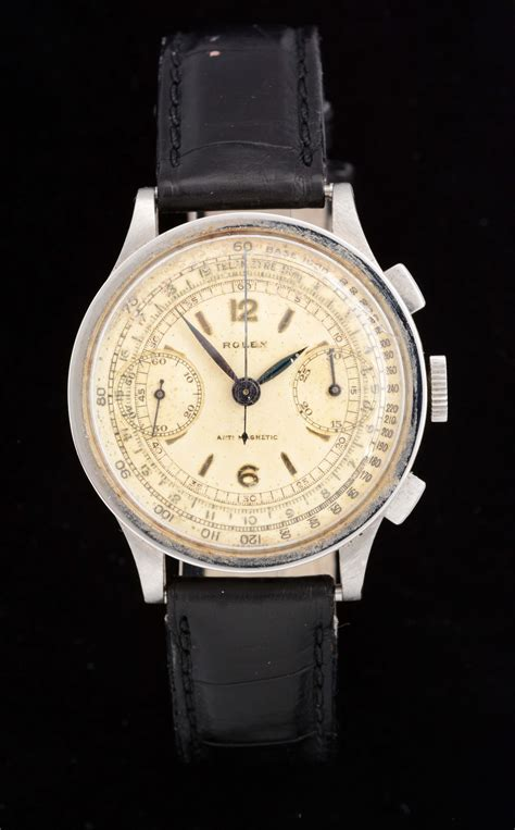 Lot Detail - ROLEX STAINLESS STEEL TWO-REGISTER ...