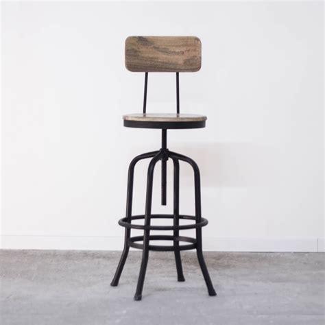 chaise haute industriel chaise haute industrielle de bar en métal avec dossier