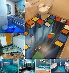 13 amazing 3d floor designs for your bathroom for How to create 3d floor graphics