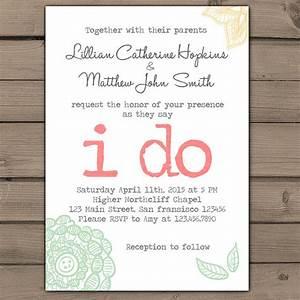wedding invitation i do lace wedding invites typewriter With send digital wedding invitations