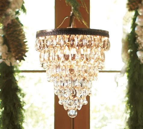 pottery barn clarissa glass drop chandelier