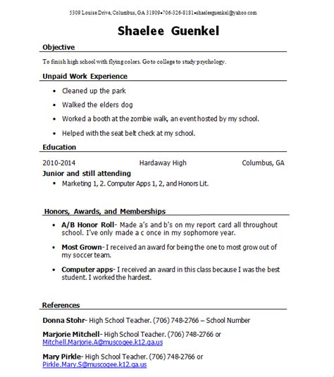 resume shaelee s career portfolio