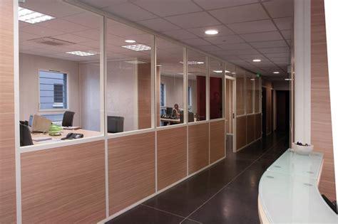 cloisonnement bureau cloison de bureau amovible vitree semi vitree pleine