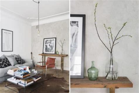 bruine tweepersoonsbank scandinavische vintage woonkamer inrichting huis