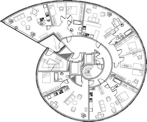Radial Pinwheel Floor Plans