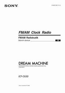 Sony Icf C630 Alarm Clock Download Manual For Free Now