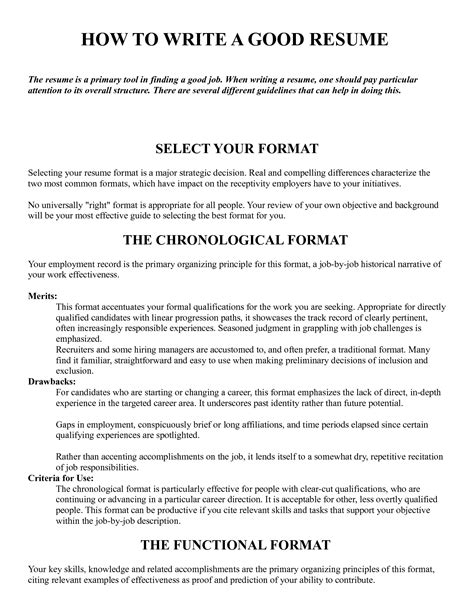 How To Do The Best Resume by How To Write A Resume Pays Attention To Its Overall