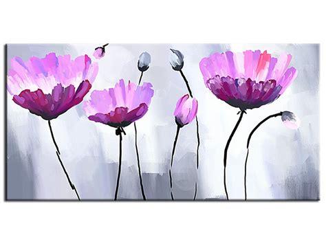 peinture moderne abstraite fleurs tableau peinture fleur pas cher d 233 coration murale abstraite